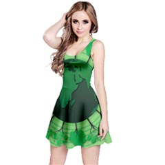 Earth Forest Forestry Lush Green Reversible Sleeveless Dress by BangZart