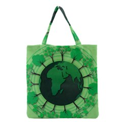 Earth Forest Forestry Lush Green Grocery Tote Bag by BangZart