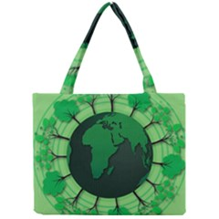 Earth Forest Forestry Lush Green Mini Tote Bag by BangZart