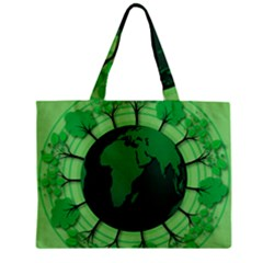 Earth Forest Forestry Lush Green Zipper Mini Tote Bag by BangZart