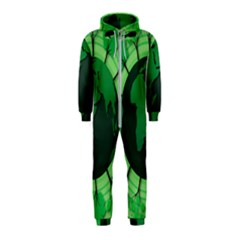Earth Forest Forestry Lush Green Hooded Jumpsuit (kids) by BangZart