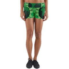 Earth Forest Forestry Lush Green Yoga Shorts