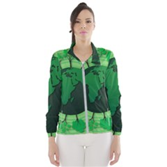 Earth Forest Forestry Lush Green Wind Breaker (women)