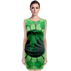 Earth Forest Forestry Lush Green Classic Sleeveless Midi Dress by BangZart