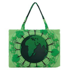 Earth Forest Forestry Lush Green Zipper Medium Tote Bag by BangZart