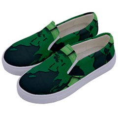 Earth Forest Forestry Lush Green Kids  Canvas Slip Ons by BangZart