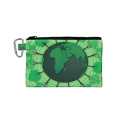 Earth Forest Forestry Lush Green Canvas Cosmetic Bag (small)