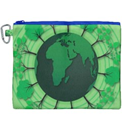 Earth Forest Forestry Lush Green Canvas Cosmetic Bag (xxxl) by BangZart