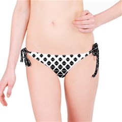 Triangle Pattern Background Bikini Bottom