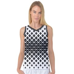Triangle Pattern Background Women s Basketball Tank Top