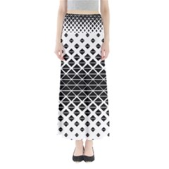 Triangle Pattern Background Full Length Maxi Skirt