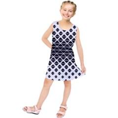 Triangle Pattern Background Kids  Tunic Dress