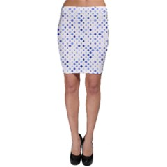 Star Curved Background Blue Bodycon Skirt