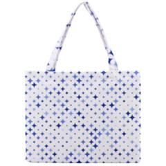 Star Curved Background Blue Mini Tote Bag