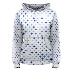 Star Curved Background Blue Women s Pullover Hoodie