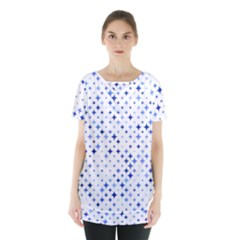 Star Curved Background Blue Skirt Hem Sports Top by BangZart