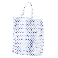 Star Curved Background Blue Giant Grocery Zipper Tote