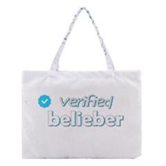 Verified Belieber Medium Tote Bag by Valentinaart