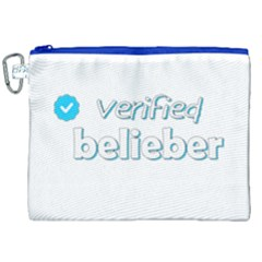 Verified Belieber Canvas Cosmetic Bag (xxl) by Valentinaart