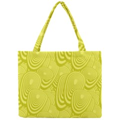 Yellow Oval Ellipse Egg Elliptical Mini Tote Bag