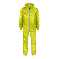 Yellow Oval Ellipse Egg Elliptical Hooded Jumpsuit (kids)