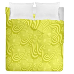 Yellow Oval Ellipse Egg Elliptical Duvet Cover Double Side (queen Size) by BangZart