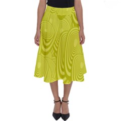 Yellow Oval Ellipse Egg Elliptical Perfect Length Midi Skirt