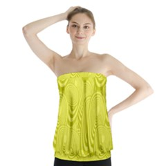 Yellow Oval Ellipse Egg Elliptical Strapless Top