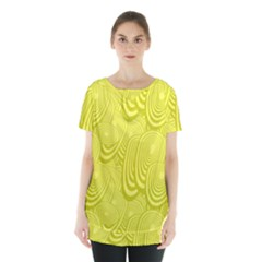Yellow Oval Ellipse Egg Elliptical Skirt Hem Sports Top
