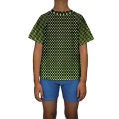Pattern Halftone Background Dot Kids  Short Sleeve Swimwear