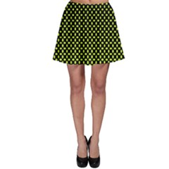 Pattern Halftone Background Dot Skater Skirt