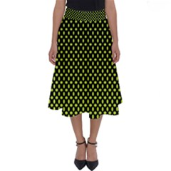 Pattern Halftone Background Dot Perfect Length Midi Skirt