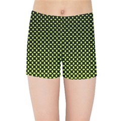 Pattern Halftone Background Dot Kids Sports Shorts
