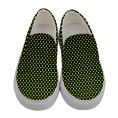 Pattern Halftone Background Dot Women s Canvas Slip Ons