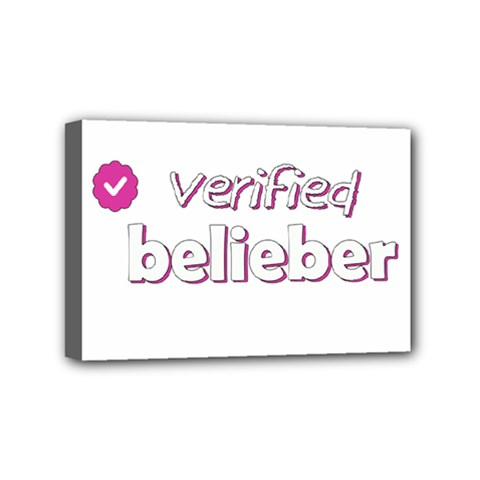 Verified Belieber Mini Canvas 6  X 4  by Valentinaart