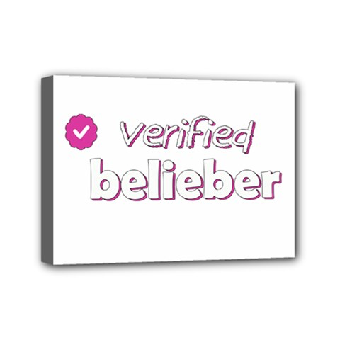 Verified Belieber Mini Canvas 7  X 5  by Valentinaart