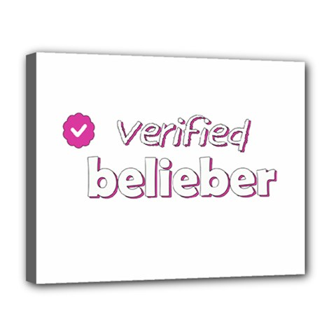 Verified Belieber Canvas 14  X 11  by Valentinaart