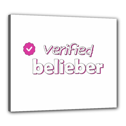 Verified Belieber Canvas 24  X 20  by Valentinaart