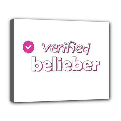 Verified Belieber Deluxe Canvas 20  X 16   by Valentinaart