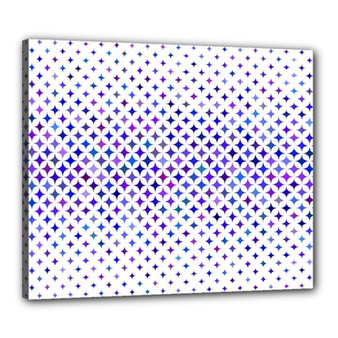 Star Curved Background Geometric Canvas 24  X 20  by BangZart