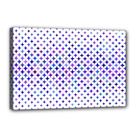 Star Curved Background Geometric Canvas 18  X 12  by BangZart
