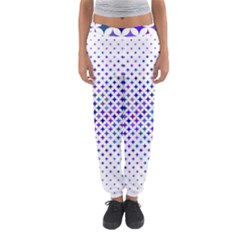 Star Curved Background Geometric Women s Jogger Sweatpants