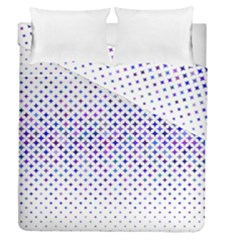 Star Curved Background Geometric Duvet Cover Double Side (queen Size)