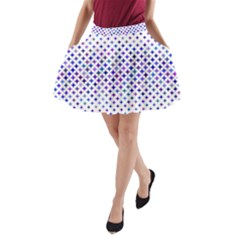Star Curved Background Geometric A Line Pocket Skirt