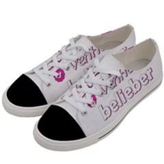 Verified Belieber Women s Low Top Canvas Sneakers by Valentinaart