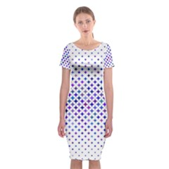 Star Curved Background Geometric Classic Short Sleeve Midi Dress