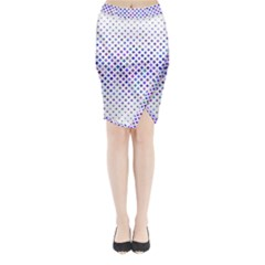 Star Curved Background Geometric Midi Wrap Pencil Skirt