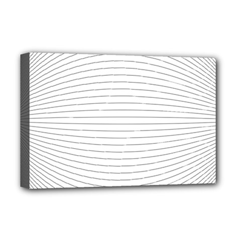 Pattern Background Monochrome Deluxe Canvas 18  X 12   by BangZart