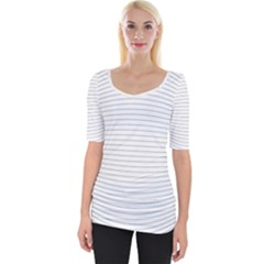Pattern Background Monochrome Wide Neckline Tee