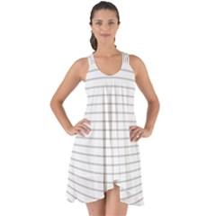 Pattern Background Monochrome Show Some Back Chiffon Dress